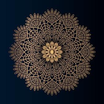Mandala de luxo com estilo dourado