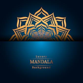 Mandala de luxo criativa com dourado