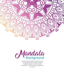 Mandala de luxo de flores de fundo, mandala de luxo vintage, decoração ornamental