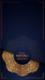 Mandala de luxo fundo azul