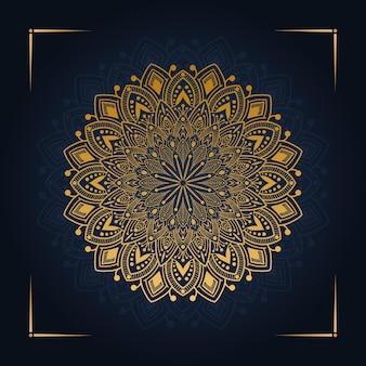 Mandala de luxo moderno design premium vetor