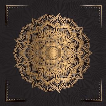 Mandala de luxo na cor dourada