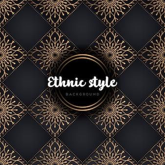 Mandala de luxo padrão sem emenda