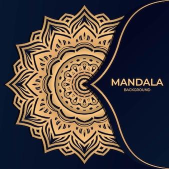 Mandala de luxo redonda ornamento de fundo
