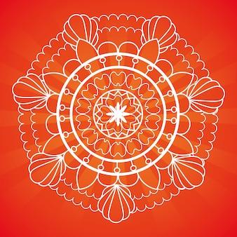 Mandala de mão desenhada