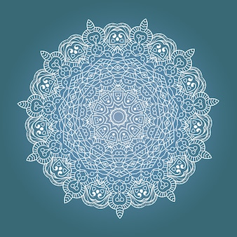 Mandala de meditação fractal étnica