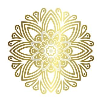 Mandala de ouro com corte a laser