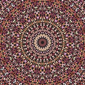 Mandala de padrão em mosaico radial psicodélico geométrico