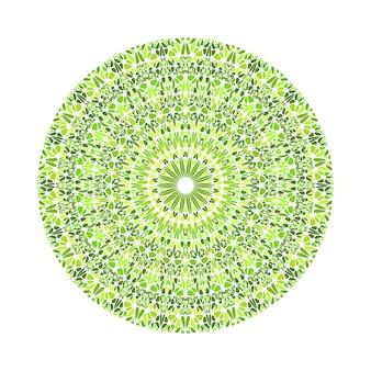 Mandala de padrão geométrico abstrato cascalho redondo circular