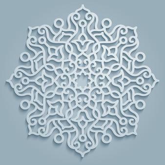 Mandala de padrão redondo decorativa
