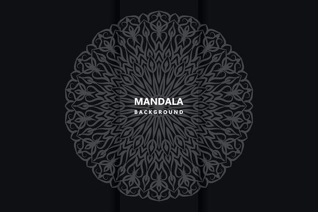 Mandala de tecido floral arabescos