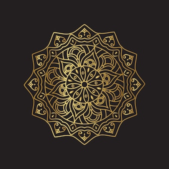 Mandala de vetor dourado