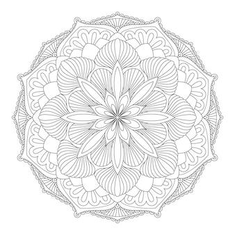 Mandala de vetor. elemento decorativo oriental. islã, árabe, indiano, turco, paquistão, chinês, motivos otomanos