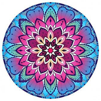 Mandala decorativa colorida. padrão oriental