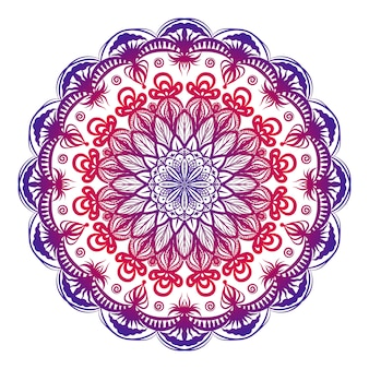 Mandala decorativa colorida