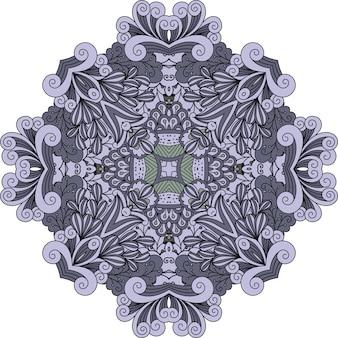 Mandala decorativa de doodle violeta
