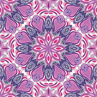 Mandala decorativa desenho abstrato. padrão sem emenda com flores