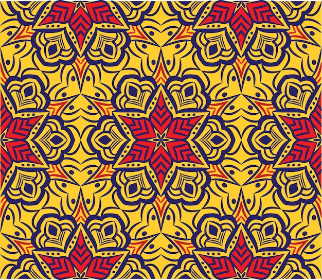 Mandala decorativa desenho abstrato. padrão sem emenda