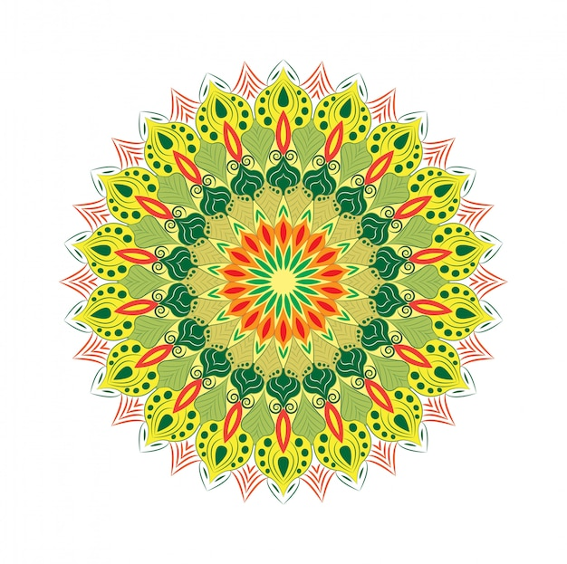 Mandala decorativa design abstrato
