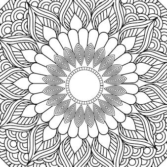Mandala decorativa elemento étnico adulto design de colorir