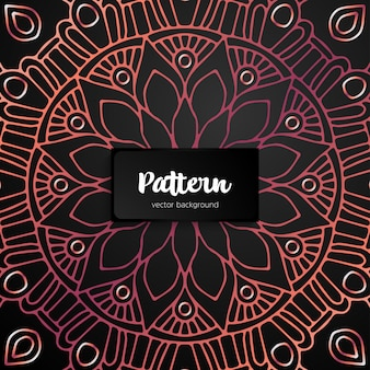 Mandala decorativa inspirada arte étnica