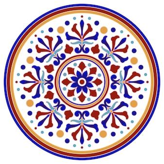 Mandala decorativa isolar em fundo branco