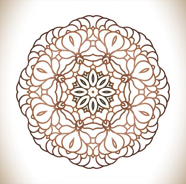 Mandala decorativa vintage.