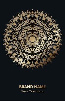 Mandala design de fundo de luxo