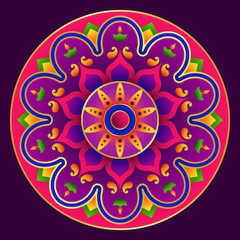 Mandala design, happy diwali rangoli background