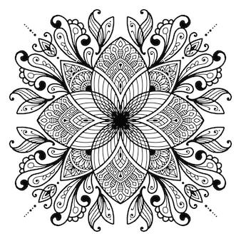 Mandala design para colorir livro