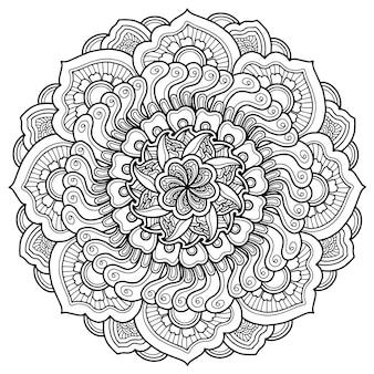Mandala design para colorir página