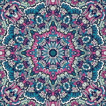 Mandala doodle com linhas decoradas de fundo