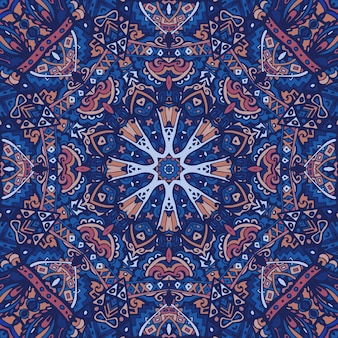Mandala doodle linhas decoradas fundo abstrato geométrico