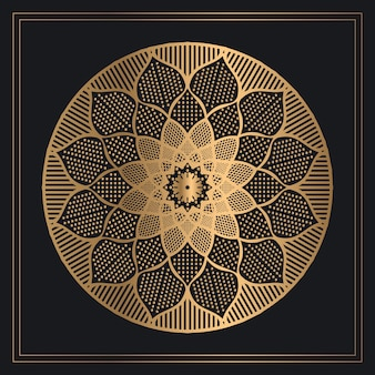 Mandala dourada clássica