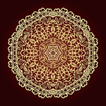 Mandala. elemento decorativo étnico. islã, árabe, indiano, motivos otomanos.