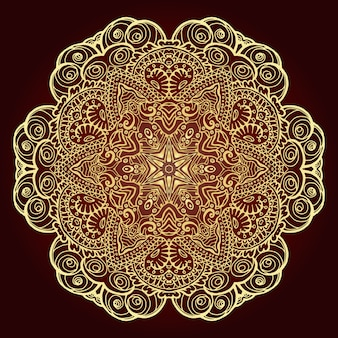 Mandala. elemento decorativo étnico.