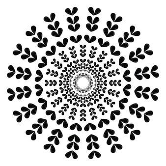Mandala. elementos decorativos étnicos. fundo desenhado de mão. islã, motivos árabes, indianos, otomanos.
