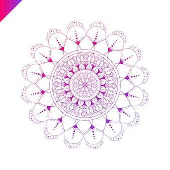 Mandala. elementos decorativos vintage. fundo desenhado à mão. islã, árabe, indiano, motivos otomanos.