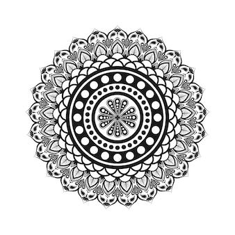 Mandala em preto e branco
