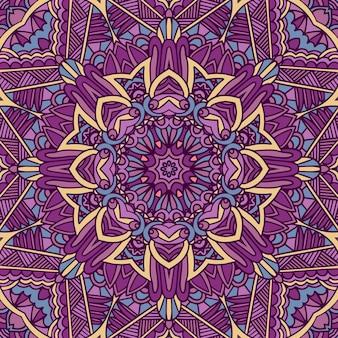 Mandala étnica de flor colorida festival