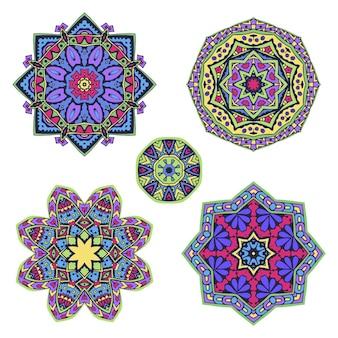 Mandala étnica redonda colorida
