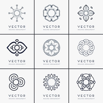Mandala étnica vetorial