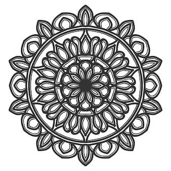 Mandala flor ilustração design vector