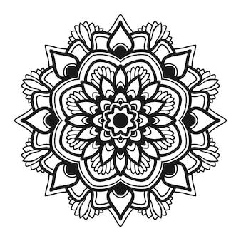 Mandala flor ilustração vetorial design