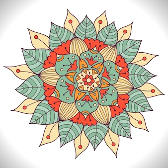 Mandala floral colorida.