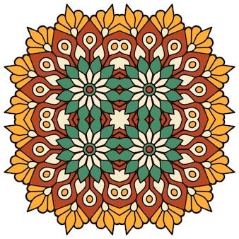 Mandala floral colorida