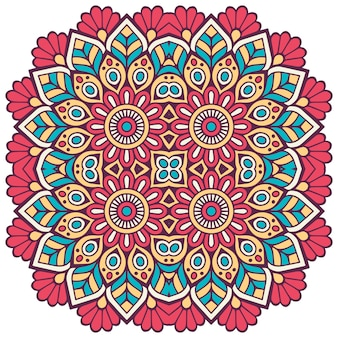 Mandala floral colorida