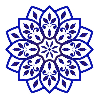 Mandala floral decorativa