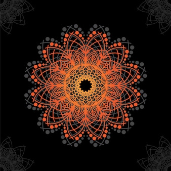 Mandala floral design de fundo vector grátis