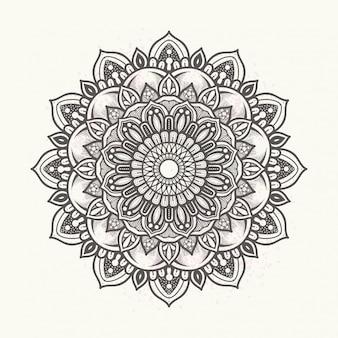 Mandala floral elegante